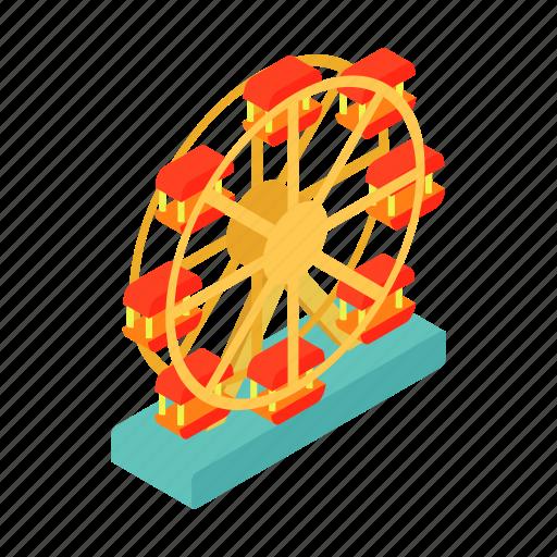 amusement, ferris, fun, isometric, motion, park, spin icon