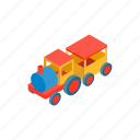 amusement, isometric, kid, locomotive, park, play, train icon