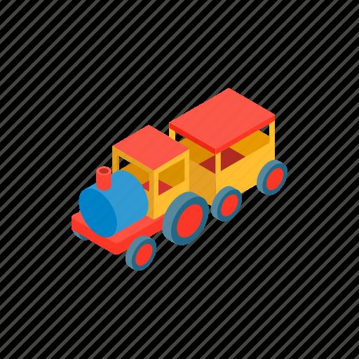 amusement, isometric, kid, locomotive, park, play, train icon