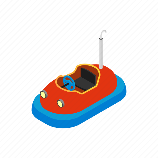 bumper, car, entertainment, fun, isometric, park, ride icon