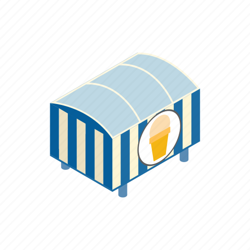 business, cart, isometric, kiosk, market, sale, tent icon