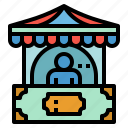 access, ticket, stand, office, shop icon