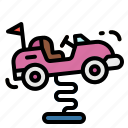 baby, car, kid, ride, toy icon