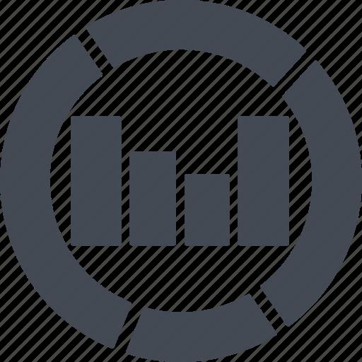 analysis, analytics, chart, diagram, financial, graph, statics icon