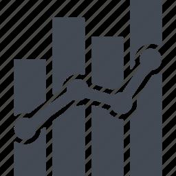 analysis, chart, graph, statics, statistics icon
