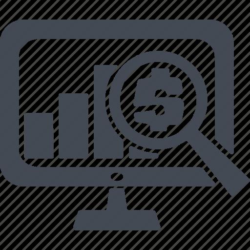 analysis, analytics, dollar, finance, money, statics, statistics icon