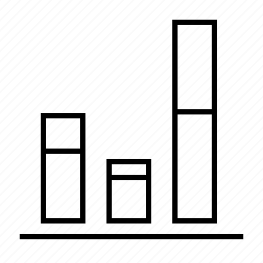 bars, chart, delination, diagram, graph, schema, segment icon