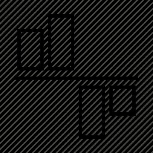bars, chart, delination, diagram, graph, schema icon