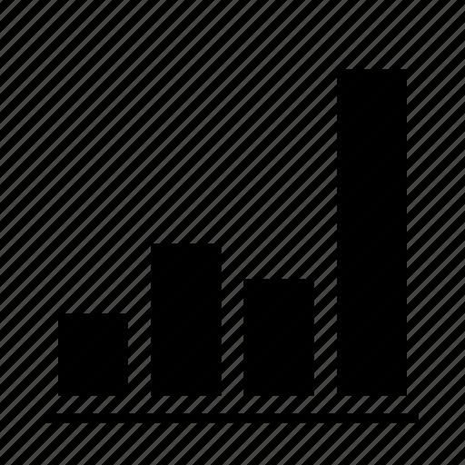 bars, chart, delination, diagram, graph, grow, schema icon