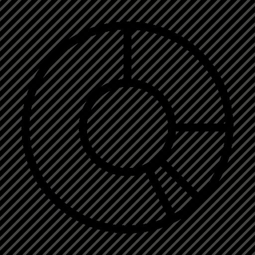 chart, circle, delination, diagram, graph, schema icon