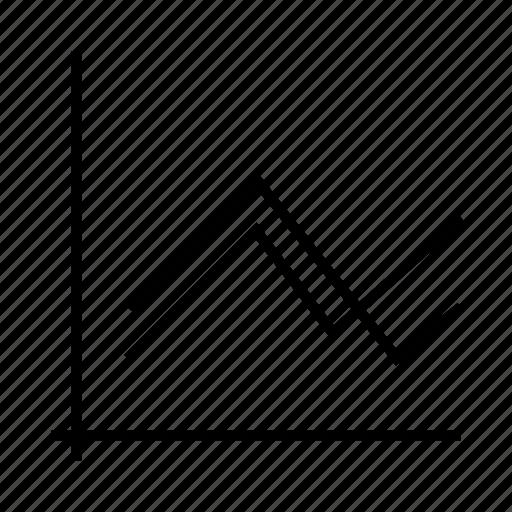 chart, delination, diagram, graph, line, schema icon