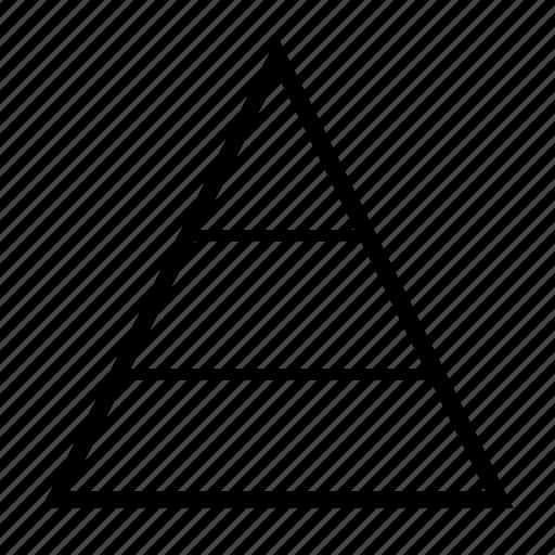 chart, delination, diagram, graph, pyramid, schema icon