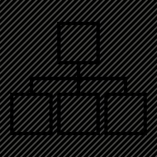 chart, delination, diagram, graph, schema, structure icon