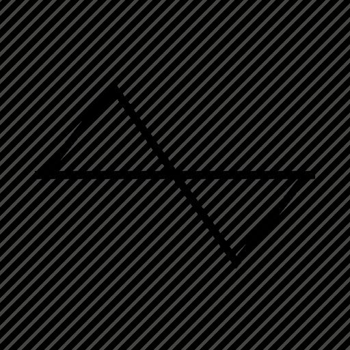 chart, delination, diagram, graph, schema, triangle icon
