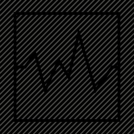 chart, delination, diagram, graph, schema, wave icon