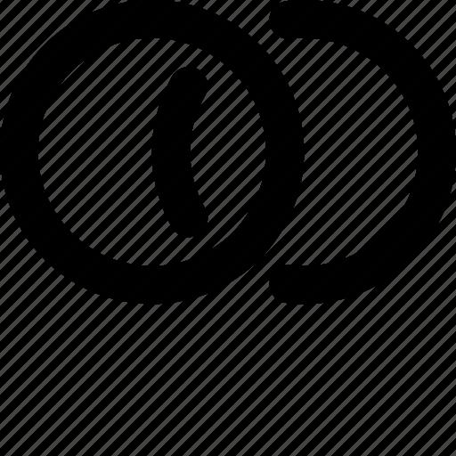 Circle Circles Mutual Circles Overlap Two Circles Venn Diagram Icon