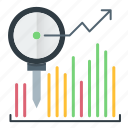 analytics, diagram, investments, statistics icon