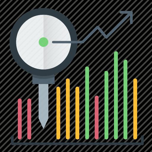 analytics, diagram, investments, statistics icon