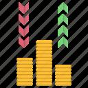 cash, flow, investments, money icon