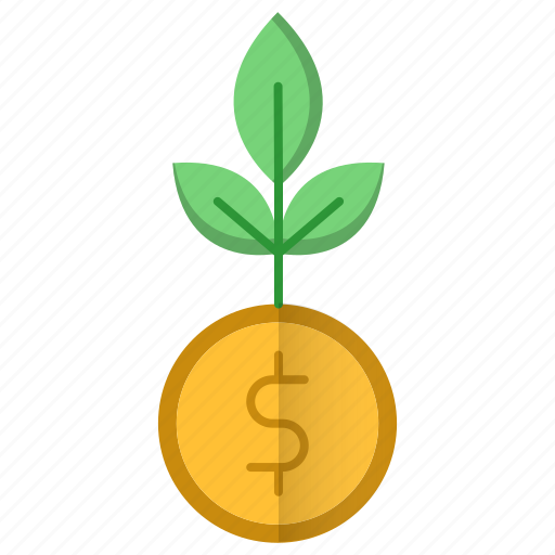 business, growth, investments, plant icon