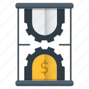 business, efficiency, investments, making money, managements, time icon