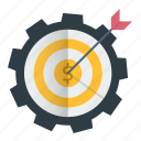 business, goal, investments, making money, target icon