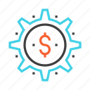 business, cash, dollar, finance, making, money, payment icon
