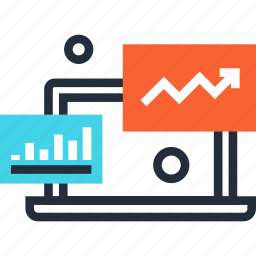 analysis, analytics, chart, computer, graph, monitoring, statistics icon