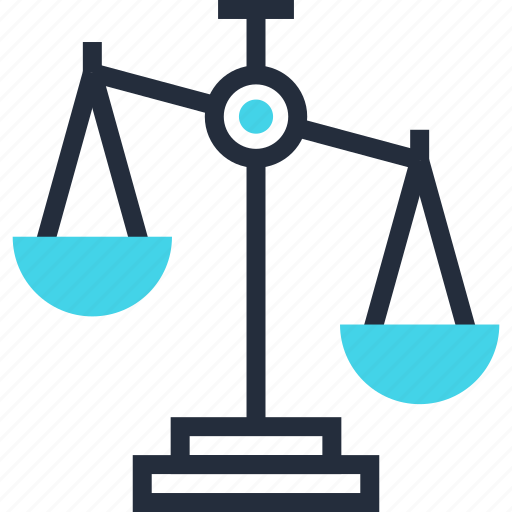balance, justice, law, management, measure, scales, weight icon