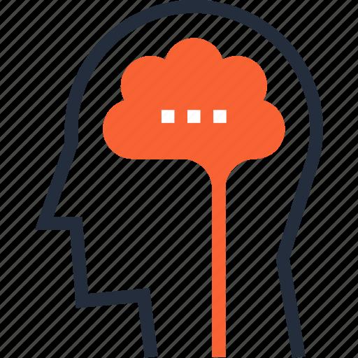 brain, brainstorm, head, idea, intelligence, mind, think icon