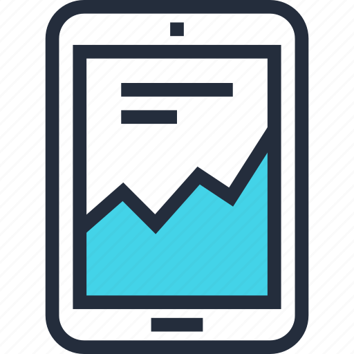 analytics, chart, computer, graph, monitoring, statistics, tablet icon