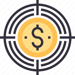 capital, currency, dollar, goal, money, target, venture icon