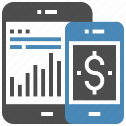 bank, banking, chart, data, internet, mobile, money icon