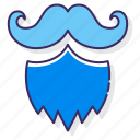 and, beard, moustache, mustache