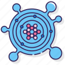 bacteria, based, carbon, organism icon