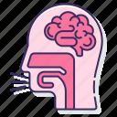 anatomy, cough, organ, reflex icon