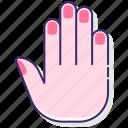 anatomy, fingers, hand, nails icon
