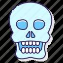 bones, halloween, skull, spooky