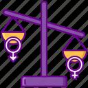 balance, hormone, imbalance icon