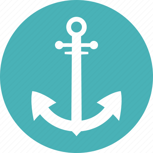 anchor, marine, nautical, secure icon