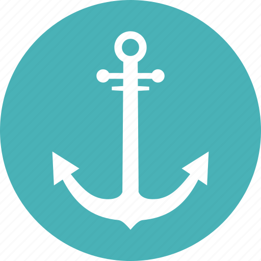 anchor, marine, nautical, secure icon