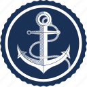 anchor, anchor logo, boat, sailing, sea, ship, travel icon
