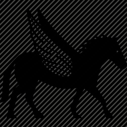 greek, horse, mythical, mythology, pegasus, wing, winged icon