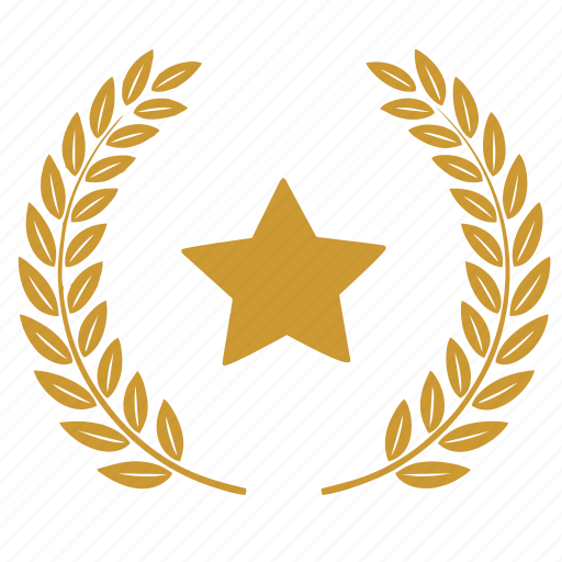 laurels, star, winner icon
