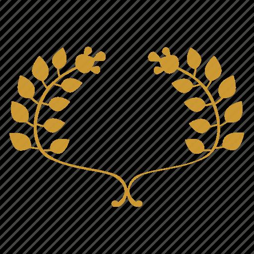 art, branch, laurel, winner icon