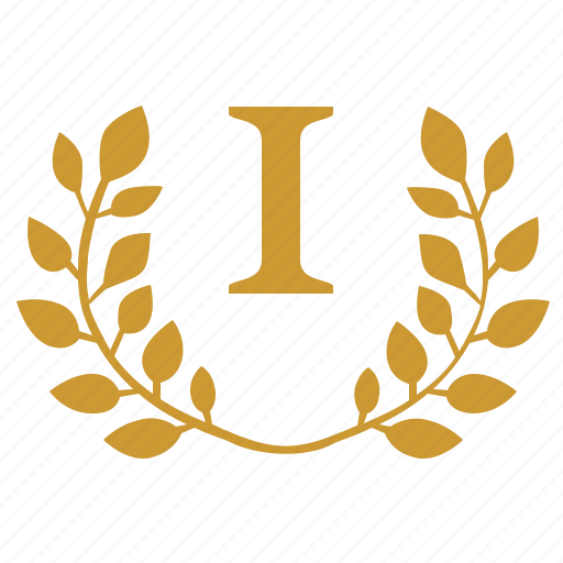first, laurel, number, one, place, winner icon
