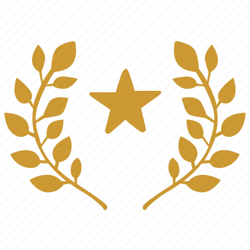 champion, laurel, star, winner icon