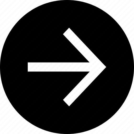 arrow, circle, direction, next, right icon