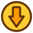 android, aplication, app, down, phone icon