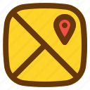 android, aplication, app, map, phone icon